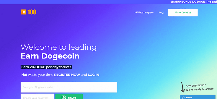 How to earn money from 100doge