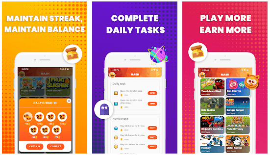 Mash Games-Play Games,Earn Bonus,Recharge,Talktime