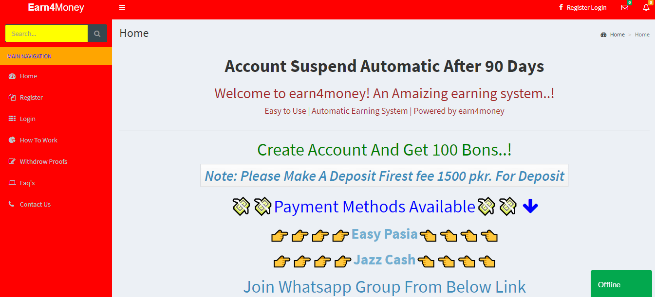 How to earn money from earn4money.online