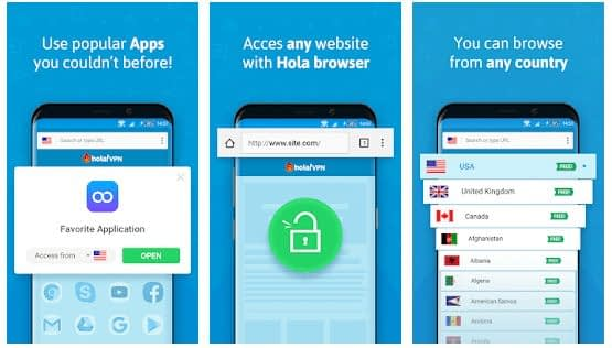 Download Hola Free VPN Proxy apk for android