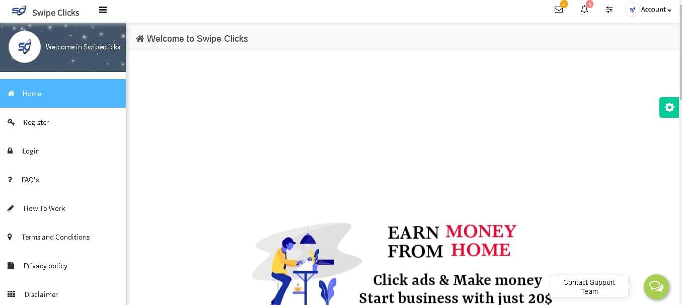 How to Earn Money from swipeclicks