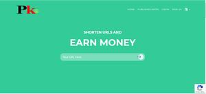 How to earn money from pkr pw - Link shortner website